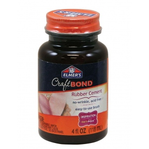 Elmer's® CraftBond® Rubber Cement: 4 oz, (model E425), price per each