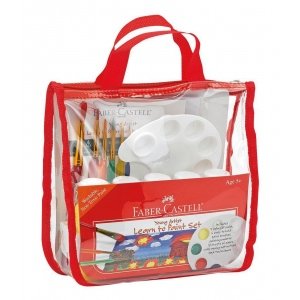 Faber-Castell® Young Artist Learn to Paint Set: 5+, Children's Art Kit, (model FC14519), price per set