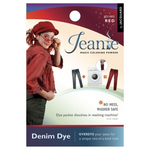 Jacquard Jeanie Red Denim Dye: Red/Pink, Packet, Denim Dye, (model JJD003), price per each