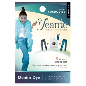 Jacquard Jeanie Turquoise Denim Dye: Blue, Packet, Denim Dye, (model JJD007), price per each