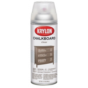 Krylon® Chalkboard Spray Paint Clear: Clear, Spray Can, 12 oz, Chalkboard, (model K0808), price per each