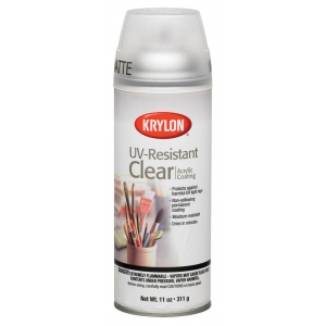 Krylon® UV-Resistant Clear Matte Spray: Matte, Varnish & Specialty, (model K1309), price per each