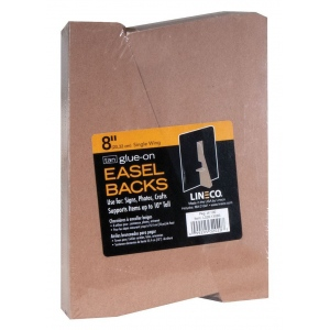 "Lineco® 8"" Glue-On Easel Backs: Brown, 100-Pack, 8"", Easel Backs, (model L328-1308S), price per 100-Pack"