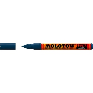 MOLOTOW™ 1.5mm Crossover Tip Acrylic Pump Marker Petrol (027): Black/Gray, Paint, Refillable, 1.5mm, Fine Nib, Paint Marker, (model M127419), price per each