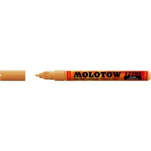 MOLOTOW™ 1.5mm Crossover Tip Acrylic Pump Marker Ochre Brown Light (208): Brown, Paint, Refillable, 1.5mm, Fine Nib, Paint Marker, (model M127425), price per each