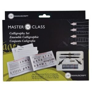 Manuscript Masterclass Calligraphy Set: Black/Gray, Fountain, Nibs Included, Assorted, Calligraphy, (model MC160), price per each