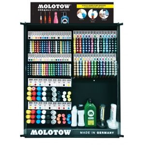MOLOTOW™ Updated Best Sellers Assortment (Locking Rack): Various, Paint, Refillable, Multi, Various, Paint Marker, (model MOLBESTASST2), price per each