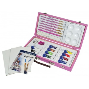 Royal & Langnickel® Pink Art Beginner Acrylic Painting Set: Acrylic, Children's Art Kit, (model RSET-PAACR3000), price per set
