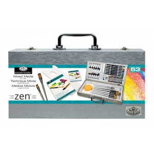 Royal & Langnickel® Zen Wooden Box Mixed Media Art Set: Art Kit, (model RZEN-MMS7301), price per set