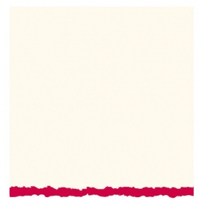 "Strathmore® 5 x 6.875 White/Red Deckle Creative Cards 20-Pack: Red/Pink, White/Ivory, Envelope Included, Card, 20 Cards, 5"" x 6 7/8"", 80 lb, (model ST105-42), price per 20 Cards"
