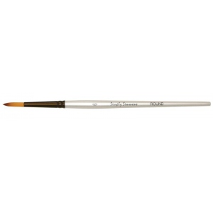Daler-Rowney Simply Simmons Synthetic Acrylic/Multimedia Brush Round 6: Short Handle, Bristle, Round, Acrylic, Multimedia