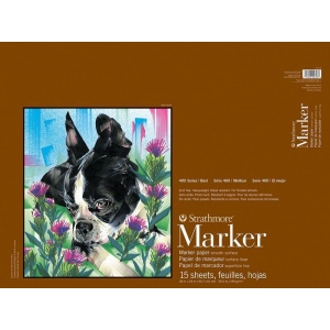 "Strathmore® 400 Series Marker Pad 18"" x 24"": Pad, 15 Sheets, 18"" x 24"", 50.5 lb, (model ST497-18), price per 15 Sheets pad"