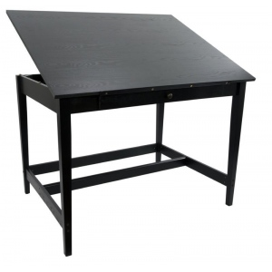 "Alvin Drawing Room Table 36"" x 48"" Black Ash"