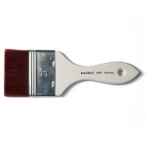 Natural Pigments Synthetic Mottler Brush 1-inch - Brush Style: Flat, Mottler; Ferrule: Stainless steel