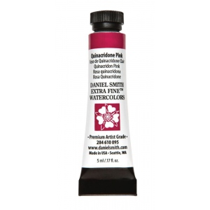 Daniel Smith Extra Fine™ Watercolor 5ml Quinacridone Pink: Red/Pink, Tube, 5 ml, Watercolor, (model 284610095), price per tube