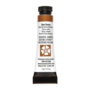 Daniel Smith Extra Fine™ Watercolor 5ml Raw Sienna: Red/Pink, Tube, 5 ml, Watercolor, (model 284610096), price per tube