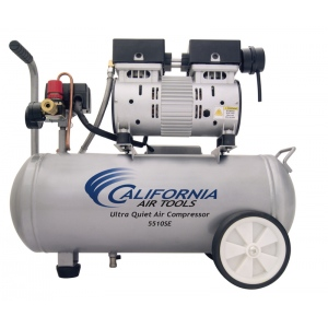 CAT 5510SE Air Compressor: 1.0 HP, 5.5 Gal. Steel Tank, Ultra Quiet, Oil-Free, Lightweight: (Airbrushing, Tattooing, Industry, Medical)