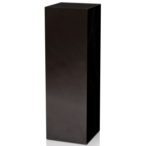 "Xylem High Gloss Black Acrylic Pedestal: 11.5"" x 11.5"" Base, 24"" Height"