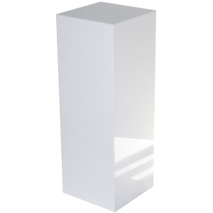 "Xylem White Gloss Acrylic Pedestal: 18"" x 18"" Size, 12"" Height"