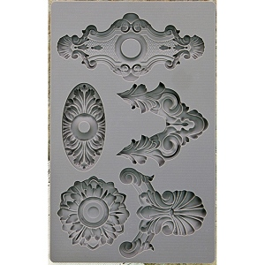 Prima - Iron Orchid Designs - Vintage Art Decor Mould - 5inX8in - Escucheons #2
