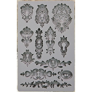 Prima - Iron Orchid Designs - Vintage Art Decor Mould - 5inX8in - Keyholes