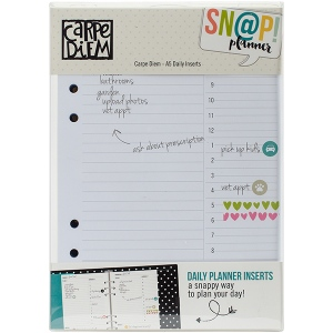 Simple Stories - Carpe Diem - A5 Double Sided Daily Inserts 156 Pack