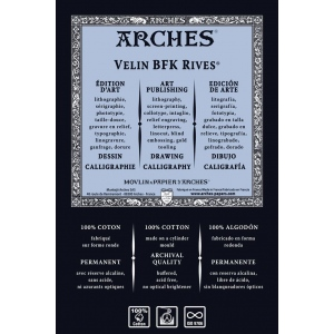 "Arches® BFK Rives® White 280G 22"" X 30"""