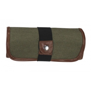 Global Art Materials™ Canvas Covered Pencil Roll Up Olive: 36 Pencils, Green, Canvas, (model 353360), price per each