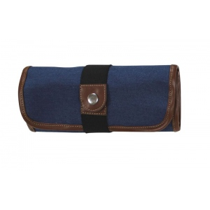 Global Art Materials™ Canvas Covered Pencil Roll Up Denim: 36 Pencils, Blue, Canvas, (model 354360), price per each