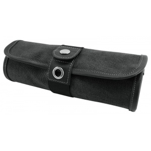Global Art Materials™ Canvas Covered Pencil Roll Up Black: 36 Pencils, Black/Gray, Canvas, (model 369360), price per each