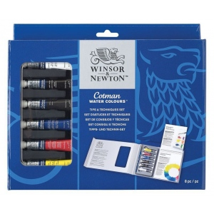 Winsor & Newton™ Cotman™ Watercolor Tips and Techniques Set: Watercolor, (model 7021537), price per set