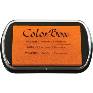"ColorBox® Full Size Ink Pad Clementine: Orange, Pad, Pigment, 2 1/2""l x 4""w x 1/4""h, (model CS15235), price per each"