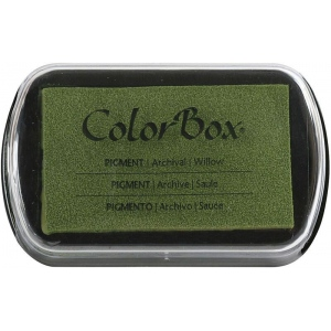 "ColorBox® Full Size Ink Pad Willow: Green, Pad, Pigment, 2 1/2""l x 4""w x 1/4""h, (model CS19098), price per each"