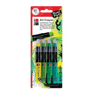 Marabu Art Crayon Set Green Jungle, (model M01409000200), price per set