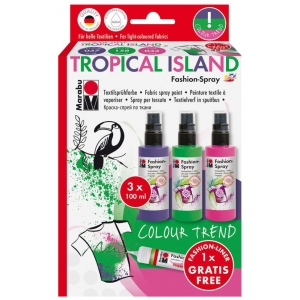 Marabu Color Trend Fashion-Spray Set Tropical Island, (model M17199000085), price per set