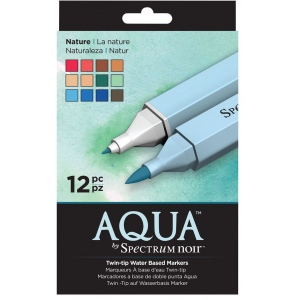 Spectrum Noir Twin-tip Water Based Markers 12-Set Nature