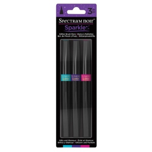 Spectrum Noir™ Sparkle Glitter Brush Pens Glitz and Glamour: Multi, 3, Brush, Brush Pen, (model SPECN-SPA-GLIT3), price per set