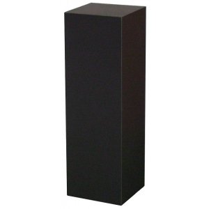 "Xylem Black Laminate Pedestal: Small & Tabletop Sized, 9"" Height"