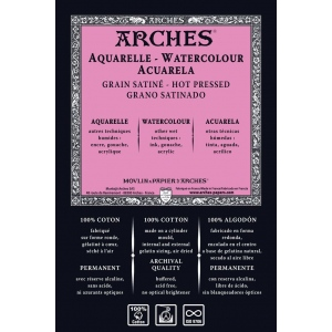 "Arches® ARCHES 140LBHP 22X30-10 SHTS: White/Ivory, Sheet, 22"" x 30"", Hot Press, (model 1795017), price per pack"