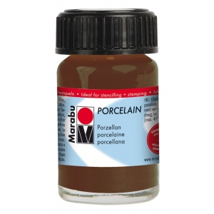 Marabu Porcelain Paint Cocoa 15ml: Brown, Jar, 15 ml, Porcelain, (model M11059039295), price per each