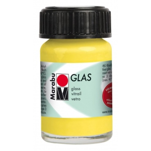 Marabu Glas Paint Lemon 15ml : Yellow, Jar, 15 ml, Glass, (model M13069039020), price per each