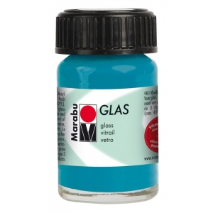 Marabu Glas Paint Petrol 15ml : Blue, Jar, 15 ml, Glass, (model M13069039092), price per each