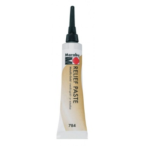 Marabu Relief Paste Metallic Gold: Metallic, Tube, 20 ml, Glass, Porcelain