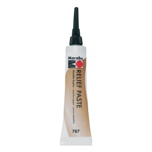 Marabu Relief Paste Metallic Copper: Metallic, Tube, 20 ml, Glass, Porcelain, (model M13079007787), price per each
