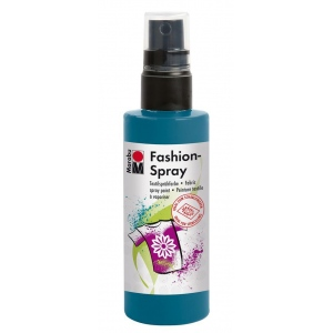 Marabu Fashion Spray Petrol 100ml: Blue, Bottle, 100 ml, Fabric, (model M17199050092), price per each