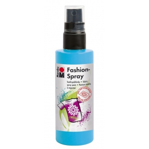 Marabu Fashion Spray Sky Blue 100ml: Blue, Bottle, 100 ml, Fabric