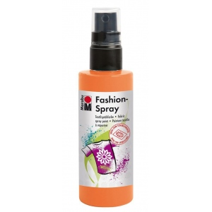 Marabu Fashion Spray Tangerine 100ml: Orange, Bottle, 100 ml, Fabric