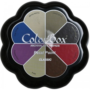 ColorBox® Petal Point Classic Ink Set: Multi, Pad, Dye-Based, Petal Points, (model CS27303), price per each