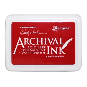 Ranger Wendy Vecchi Archival Ink Pads #0: Red Geranium