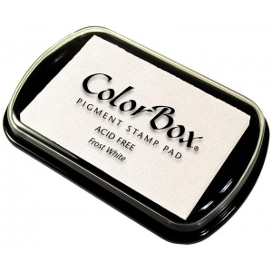ColorBox® Full Size Ink Pad Frost White: White/Ivory, Pad, Pigment, Full Size Rectangle